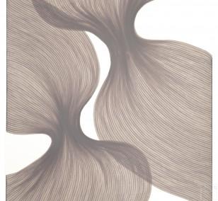 Dusty Lavender Sheer Folds | Lali Torma | Zeichnung | Kalligraphietusche auf Papier