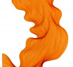 Bubbly Orange | Lali Torma | Zeichnung | Kalligraphie Tinte auf Papier