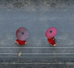 6 Monks, 6 AM (50x150cm) | Fotografie von Finkbeiner & Salm, Direktdruck auf Alu-Dibond-Platte, limitierte Edition