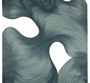 Farfala di fumo | Lali Torma | Zeichnung | Kalligraphie Tinte auf Papier
