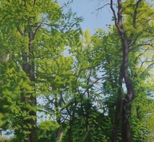 Lichtung | Malerei von Sven Wiebers | Acryl auf Baumwolle, realistisch