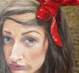 Nora von Rotenbaum | Malerei von Eva Nordal | Öl, Textil auf Leinwand, realistisch