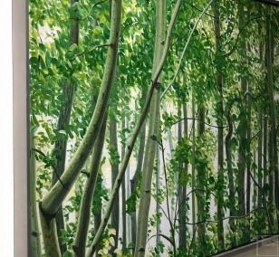 Mythischer Wald | gerahmt, Malerei von Sven Wiebers | Acryl auf Baumwolle, realistisch