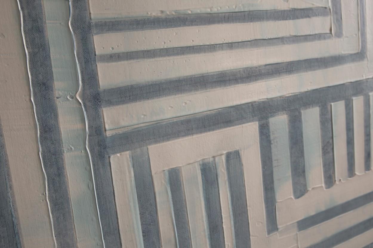 Frankie Goes to Montreal, Detail von links, Malerei von Lali Torma | Acryl auf Leinwand