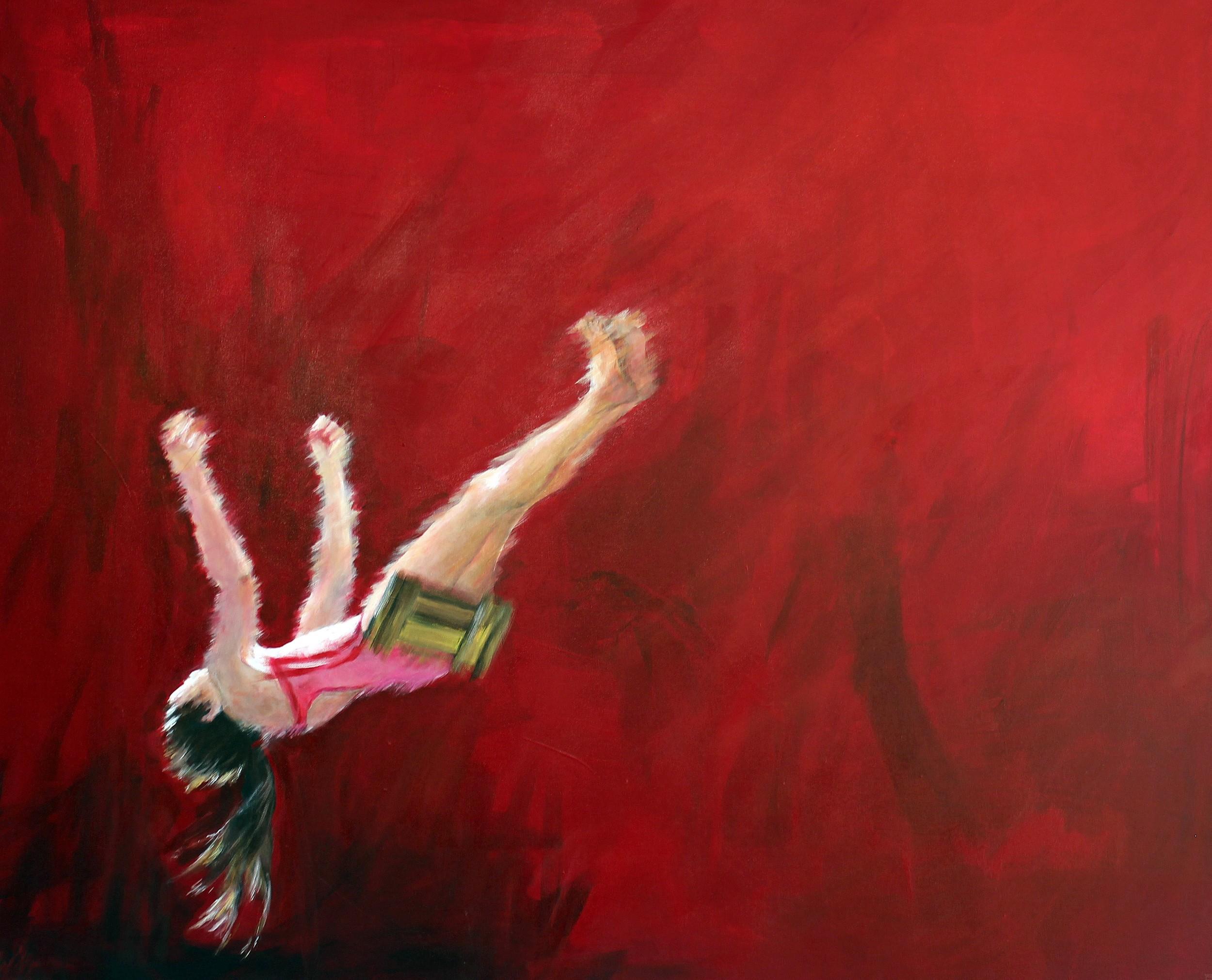 Schaukeln | Malerei von Künstlerin Simone Westphal, Acryl auf Leinwand
