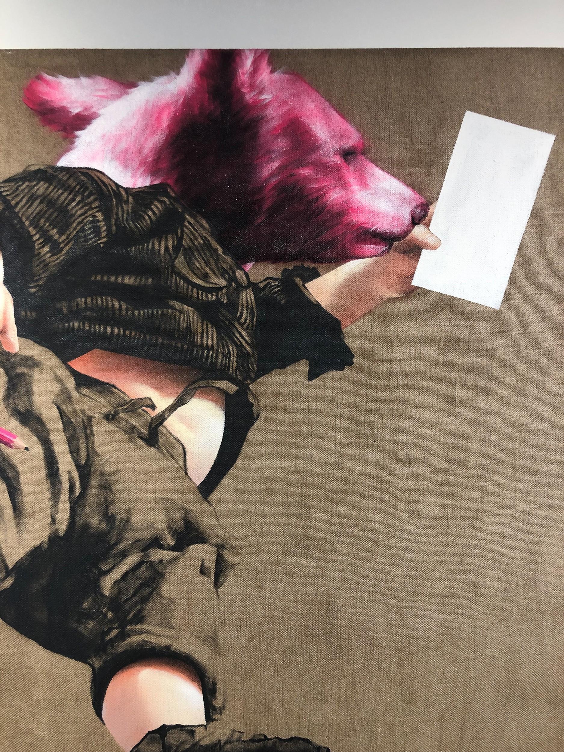 Pflegeleicht | Detail, Malerei von Jakob Tory Bardou, innerfields | Acryl auf Leinwand, Urban Art