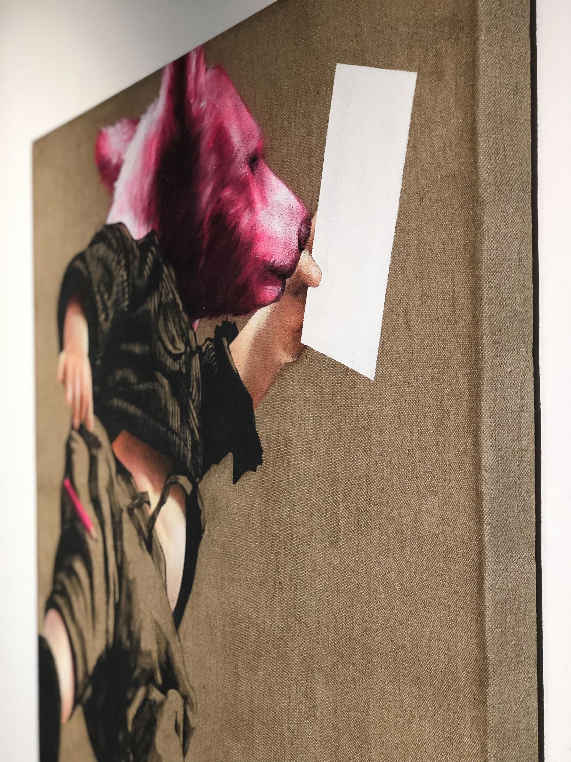 Pflegeleicht | Detail seitlich, Malerei von Jakob Tory Bardou, innerfields | Acryl auf Leinwand, Urban Art