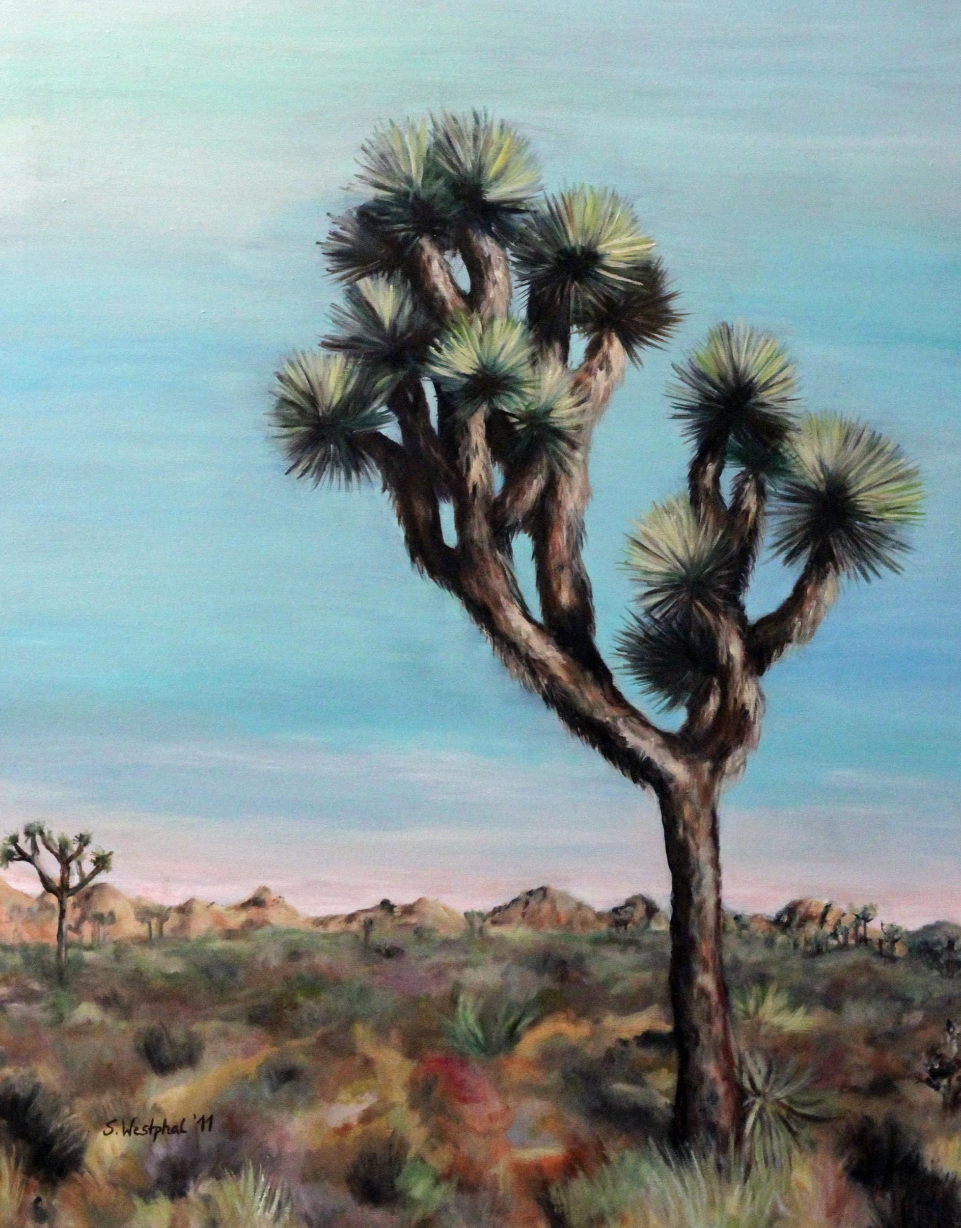 Joshua Tree | Malerei von Künstlerin Simone Westphal, Öl auf Leinwand
