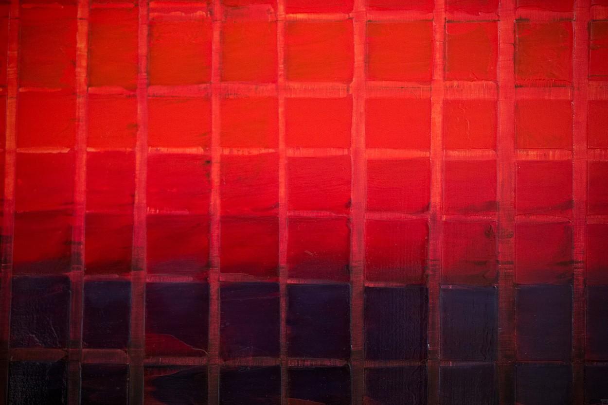 Unter Druck, Ausschnitt frontal | Malerei von Lali Torma | Acryl auf Leinwand, abstrakt
