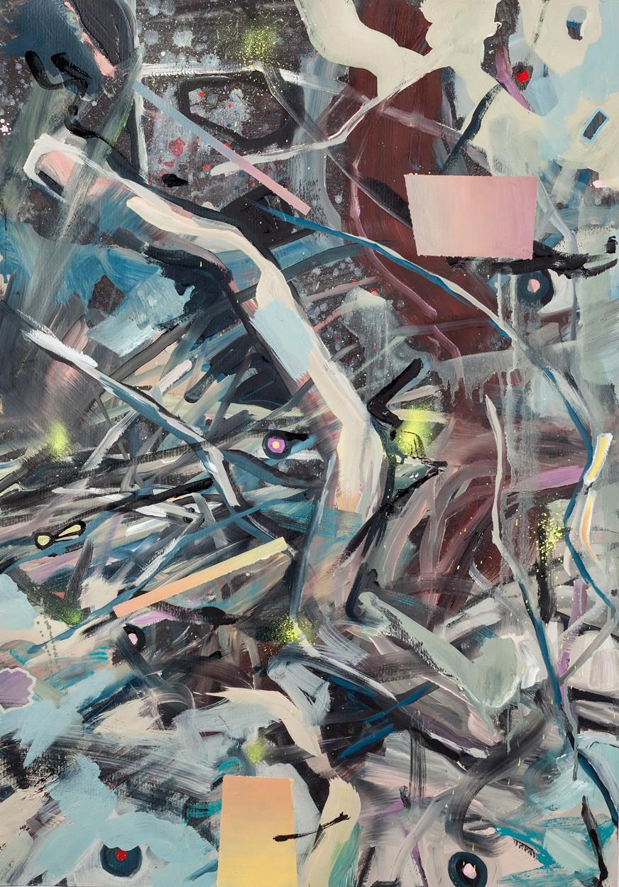 Zwischenräume_1.1 | Malerei von Malwin Faber, gerahmt