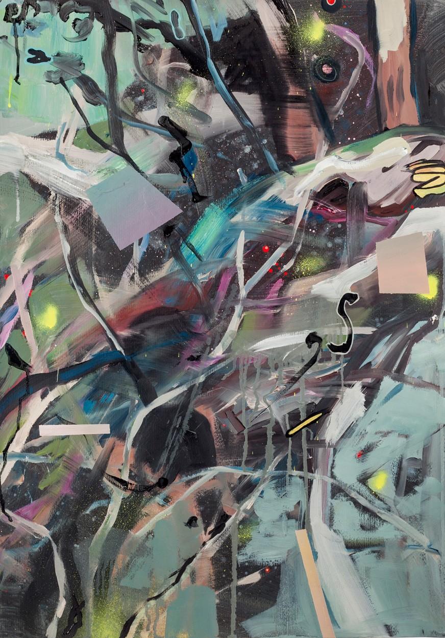 Zwischenräume_1.2 | Malerei von Malwin Faber, gerahmt