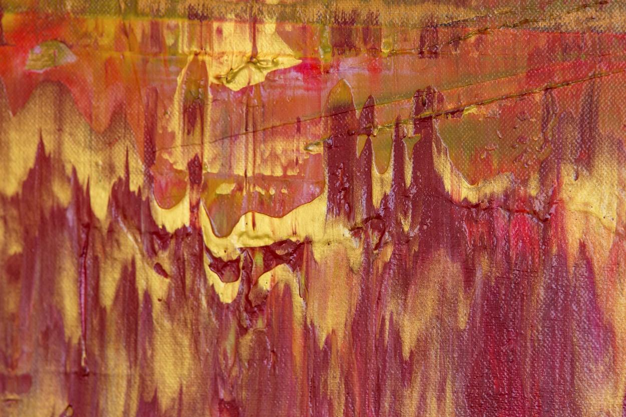 Prisma 11 - Alte Kirche Rubin, Detail, Malerei von Lali Torma | Acryl auf Leinwand