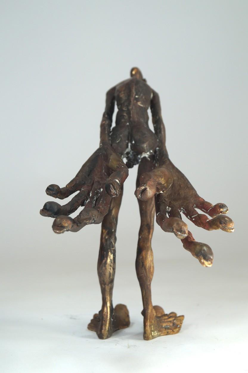 Unschuld - von hinten, Bronze Plastik, Skulptur von Tim David Trillsam