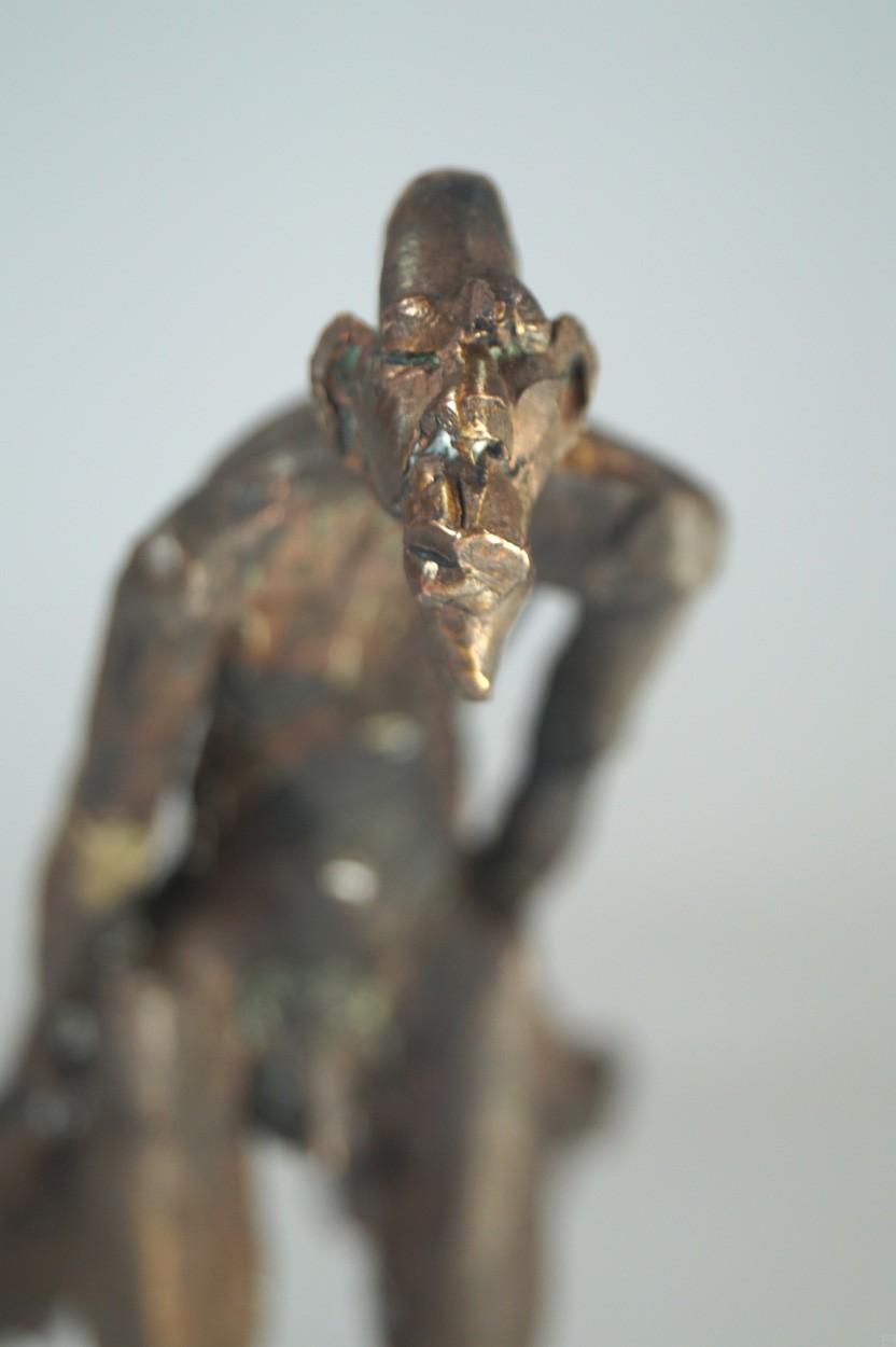 Unschuld - von vorn Detail Kopf, Bronze Plastik, Skulptur von Tim David Trillsam