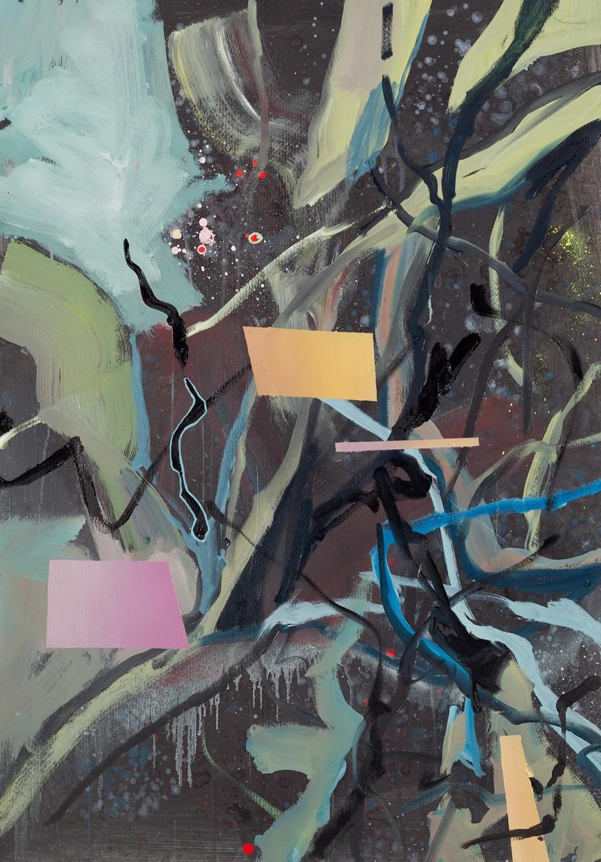 Zwischenräume_1.4 | Malerei von Malwin Faber, gerahmt