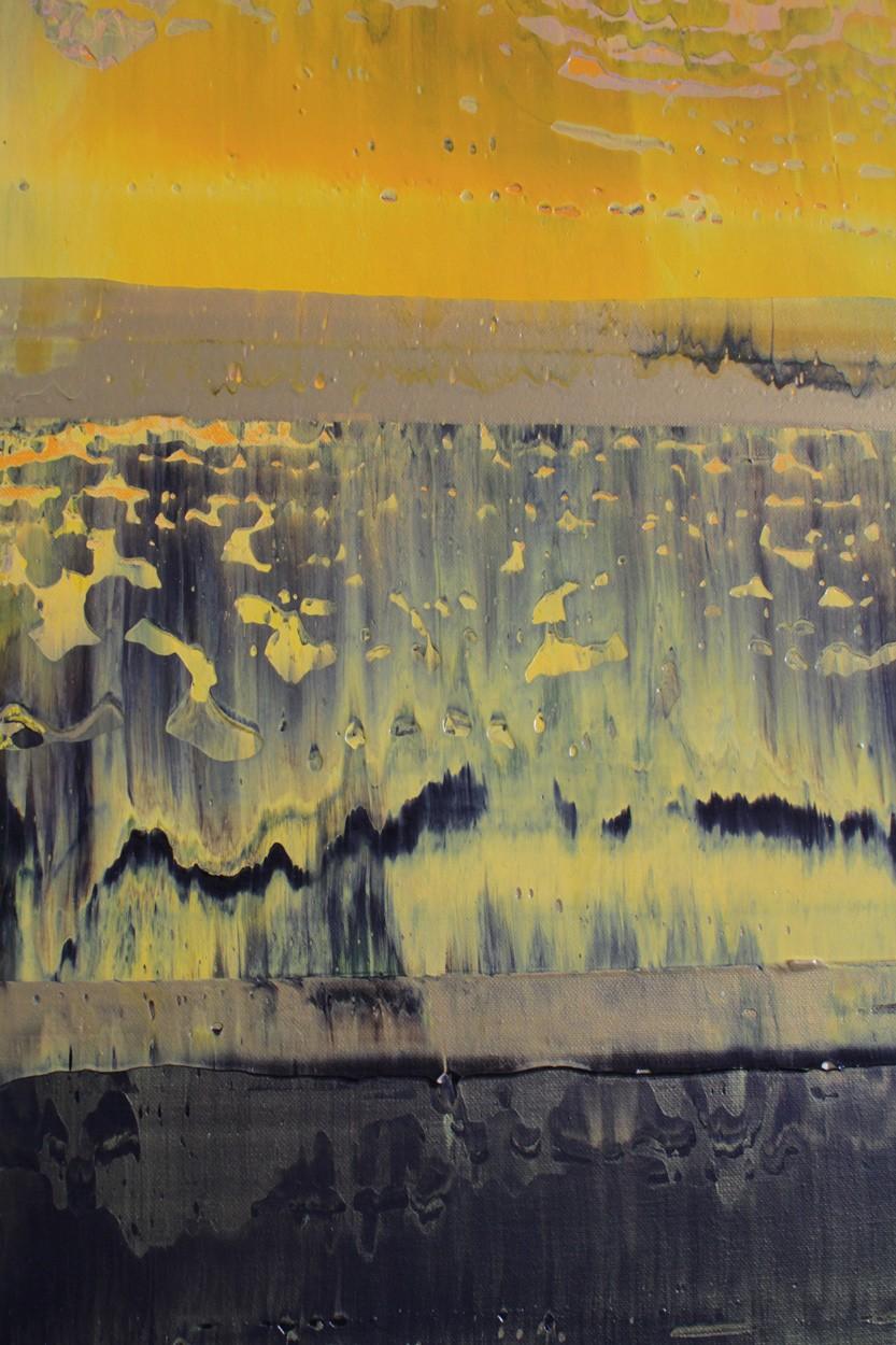 Prisma 9 - Aventurin-Quarz, Detail, Malerei von Lali Torma | Acryl auf Leinwand