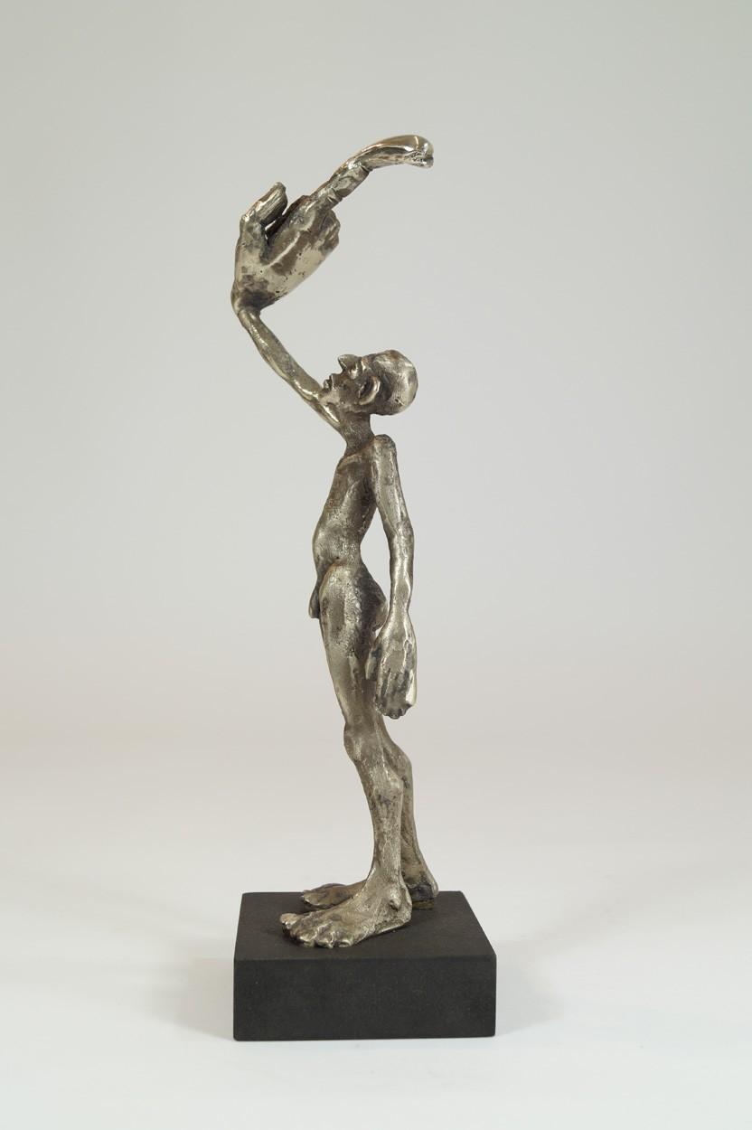 ICH - von links, Neusilber Plastik, Skulptur von Tim David Trillsam