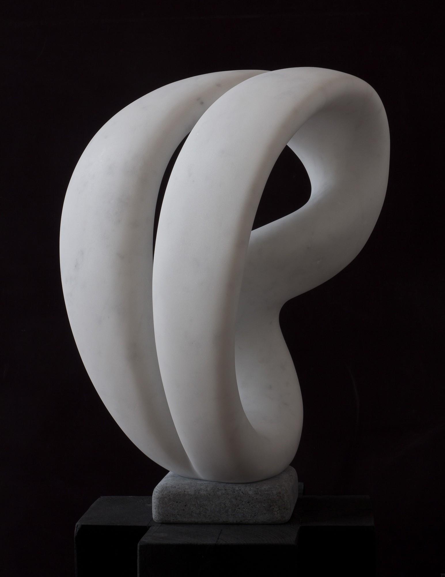 Laokoon, von vorn, Marmor, Stein Skulptur von Bildhauer Klaus W. Rieck
