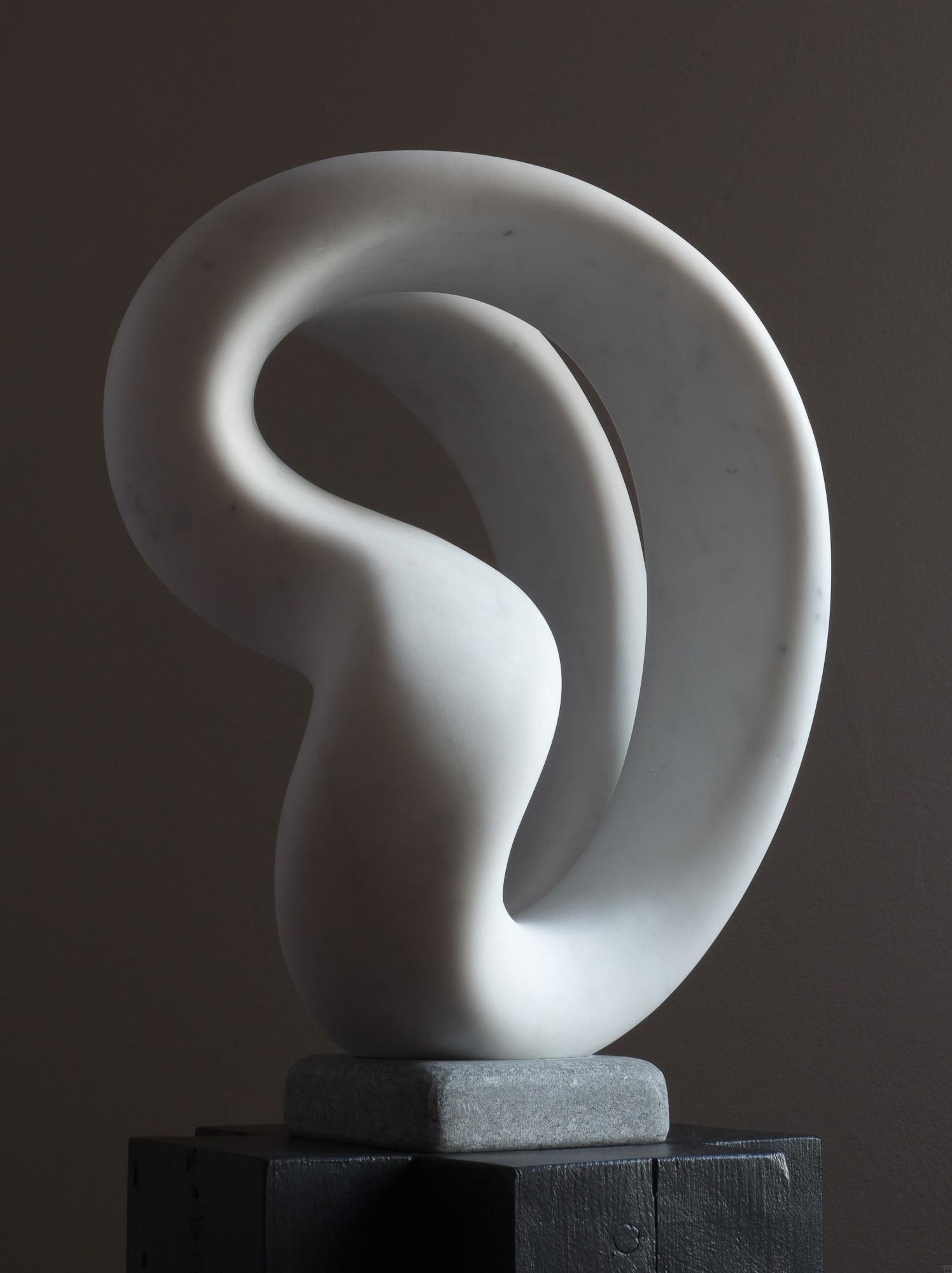 Laokoon, von rechts, Marmor, Stein Skulptur von Bildhauer Klaus W. Rieck