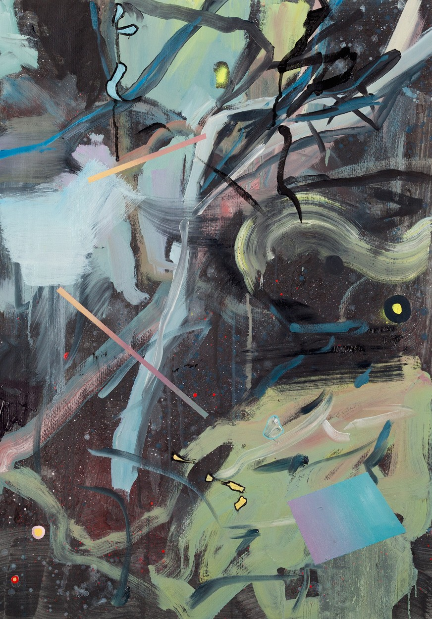 Zwischenräume_1.5 | Malerei von Malwin Faber, gerahmt