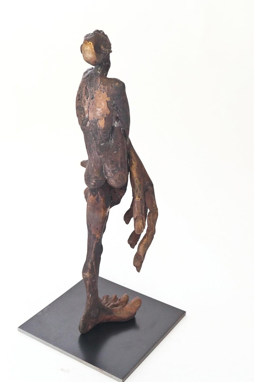 SchamDi - hinten seitlich, Bronze Plastik, Skulptur von Tim David Trillsam, Edition