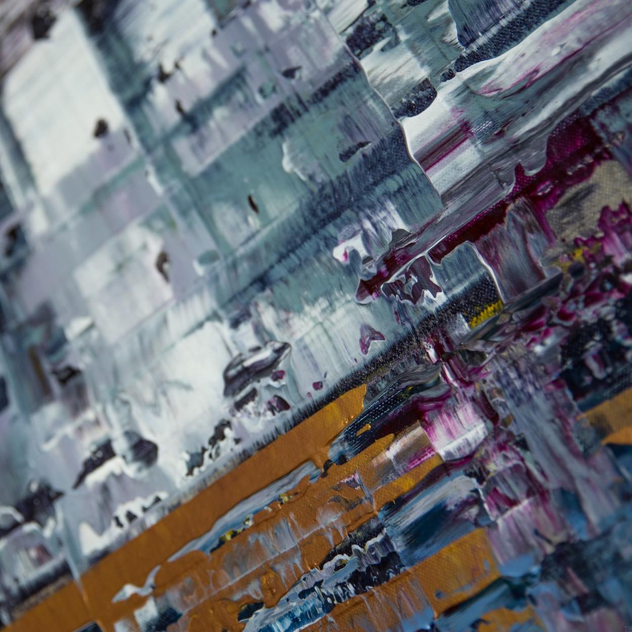 Pixel 1 - Detail seitlich 3 | Malerei von Lali Torma | Acryl auf Leinwand, abstrakt