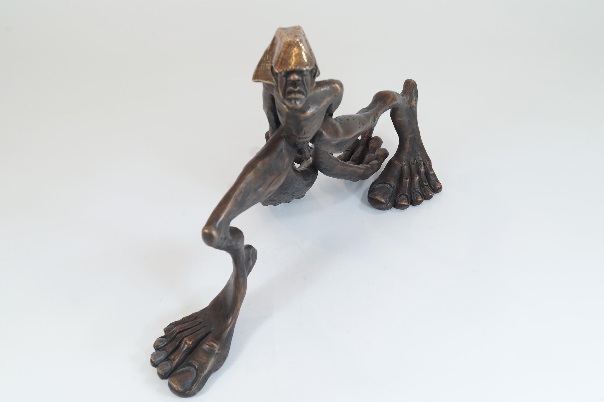 Zeitschläger - von oben, Bronze Plastik, Skulptur von Tim David Trillsam, Edition
