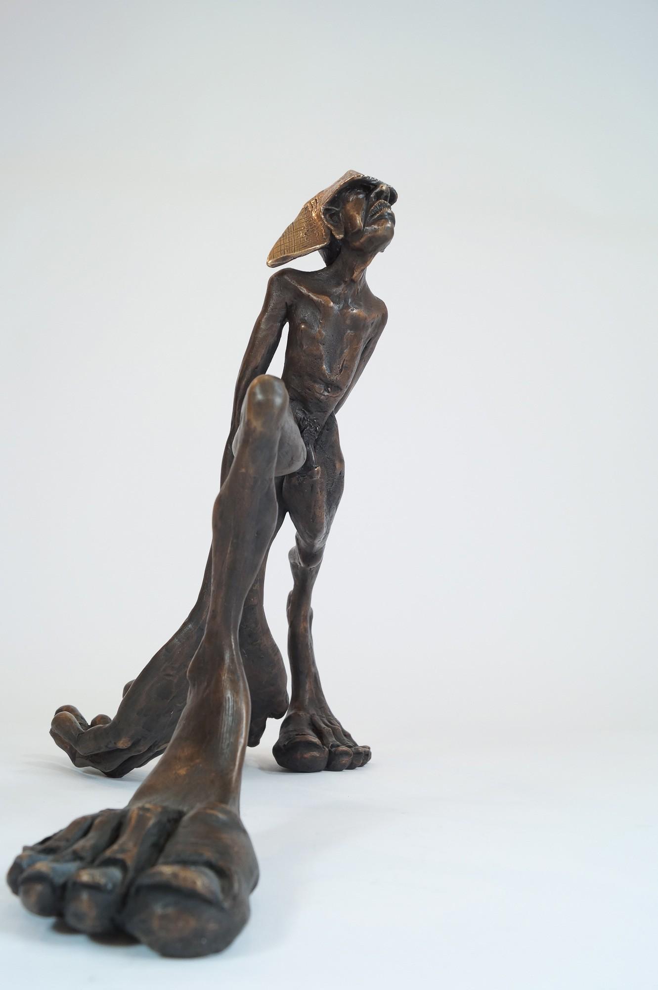 Zeitschläger - frontal, Bronze Plastik, Skulptur von Tim David Trillsam, Edition