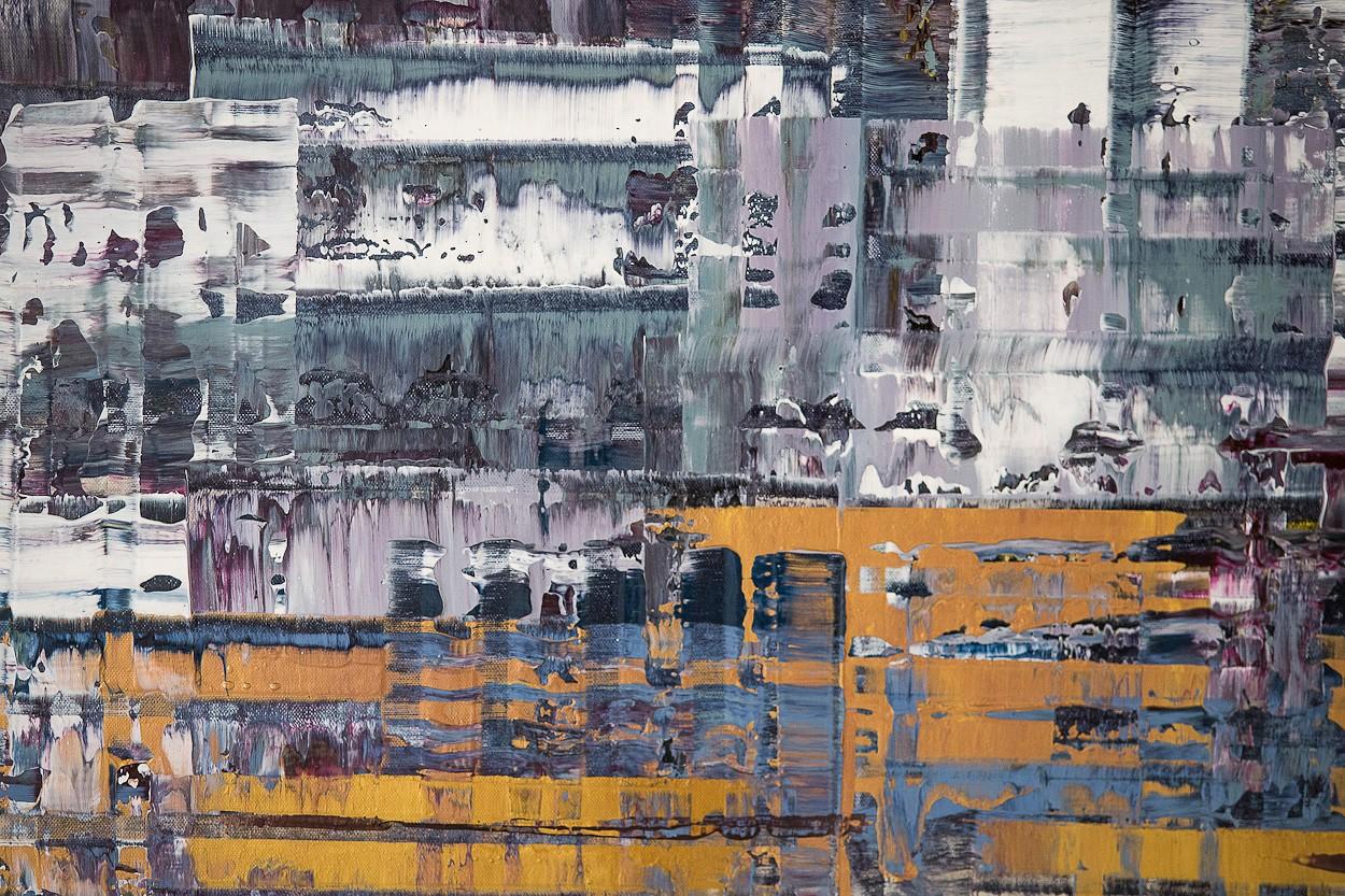 Pixel 1 - Detail frontal 1 | Malerei von Lali Torma | Acryl auf Leinwand, abstrakt