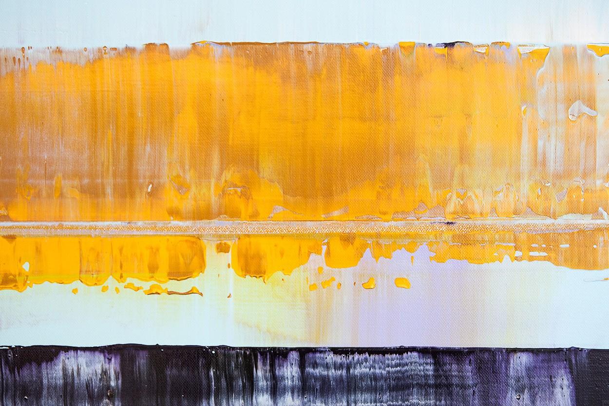 Prisma 2 - Türkiser Schimmer, Detail | Malerei von Lali Torma | Acryl auf Leinwand, abstrakt