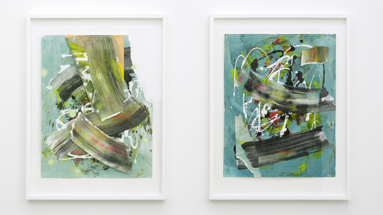 Zwischenräume_6.1 und _6.2 | Malereien von Malwin Faber, Collagen, gerahmt
