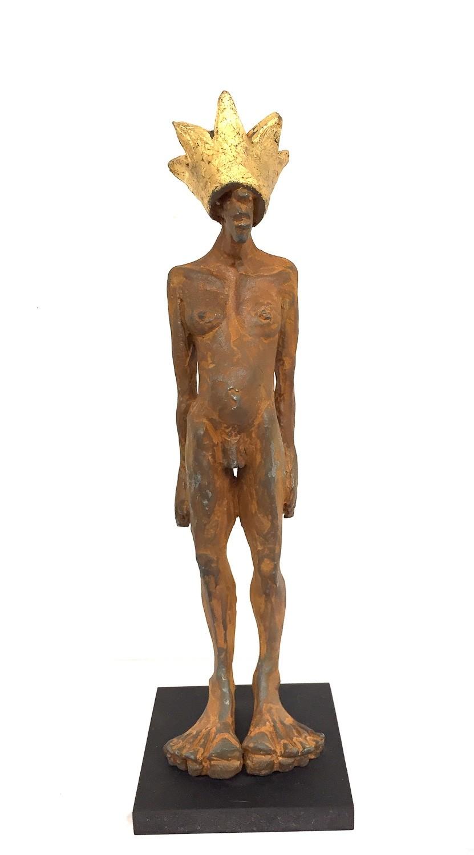 Kleiner Prinz - Eisen Plastik, Skulptur von Tim David Trillsam, Edition