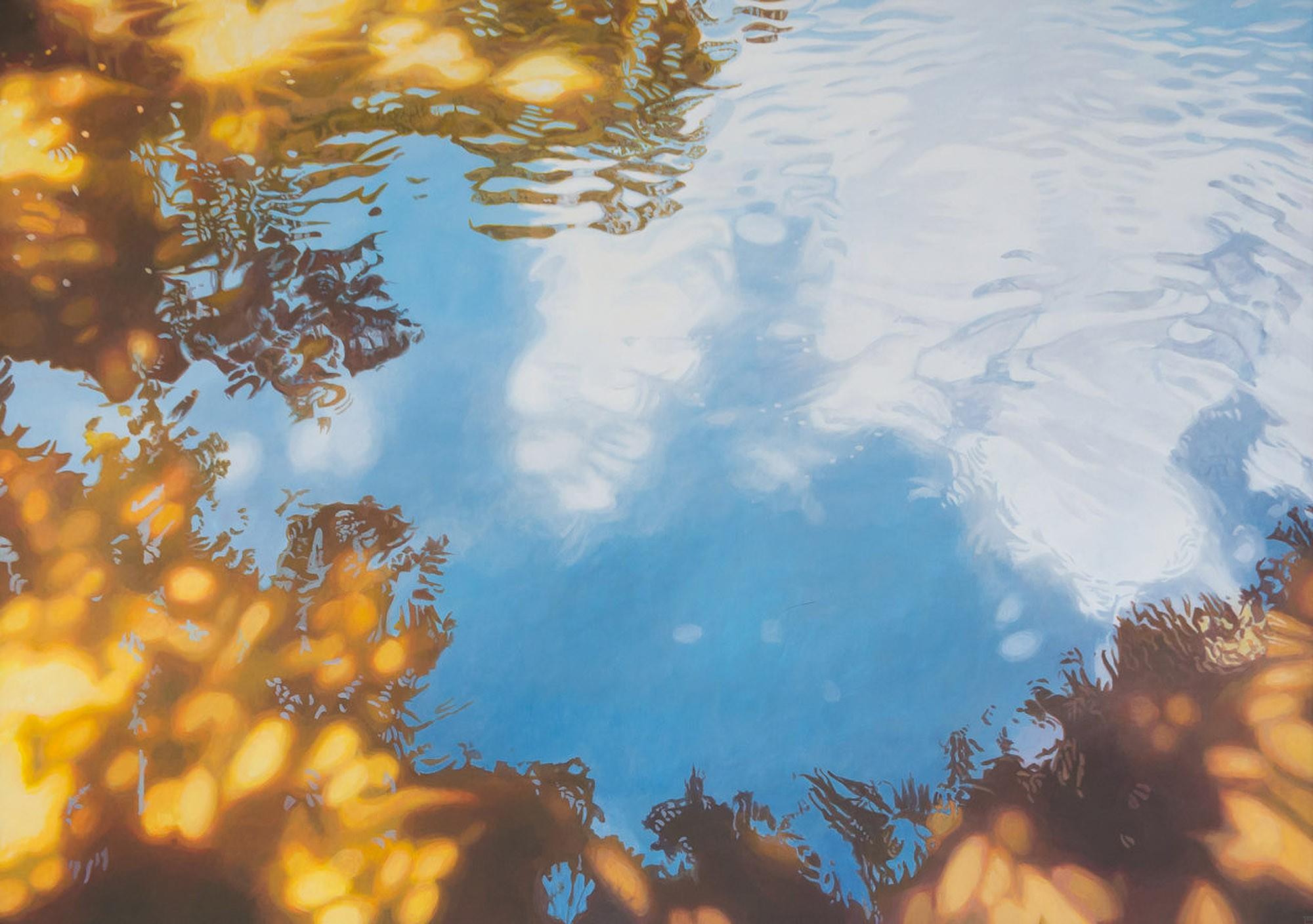 Sonne im Wasser | Malerei von Sven Wiebers | Acryl auf Leinwand, realistisch