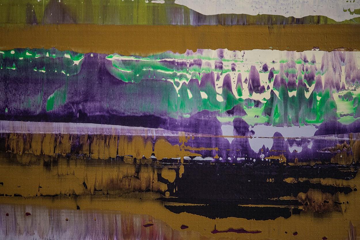 Prisma 8 - Manganprise, Detail 1 | Malerei von Lali Torma | Acryl auf Leinwand, abstrakt
