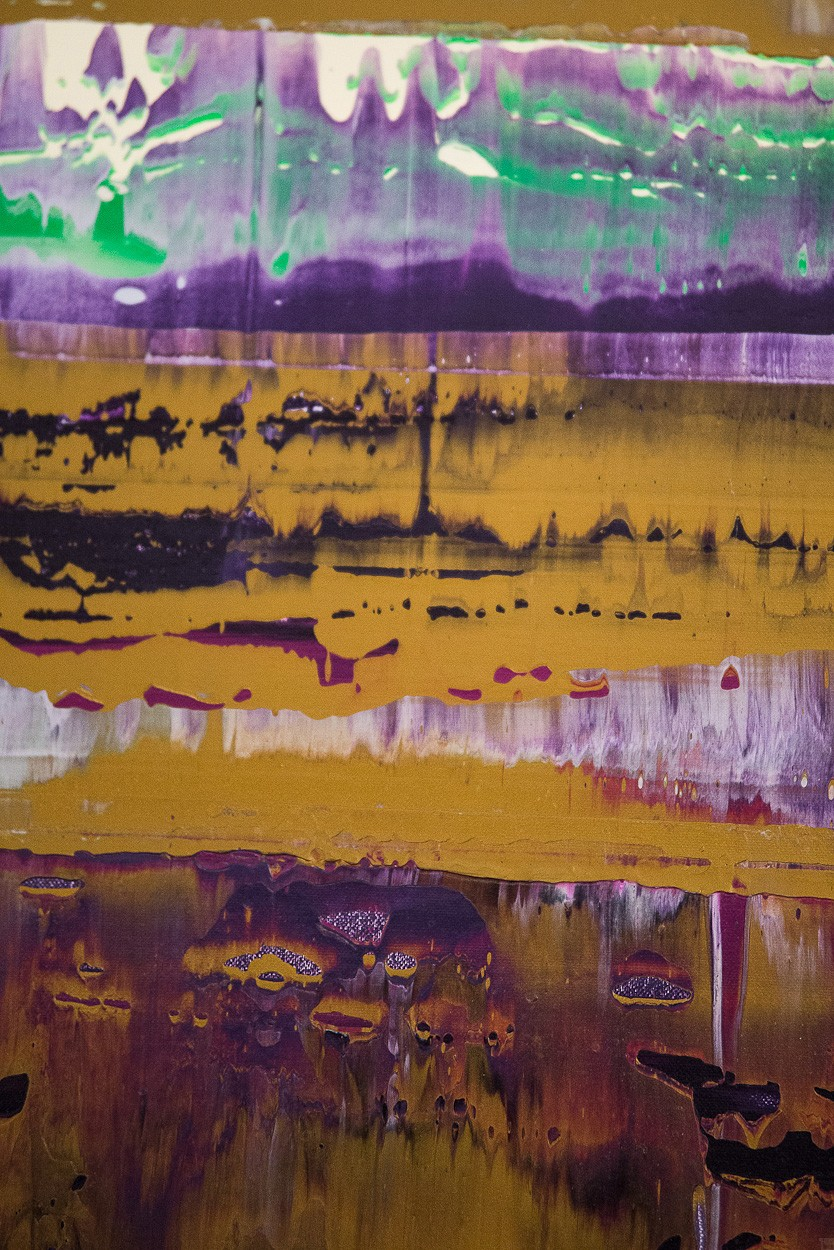 Prisma 8 - Manganprise, Detail 3 | Malerei von Lali Torma | Acryl auf Leinwand, abstrakt
