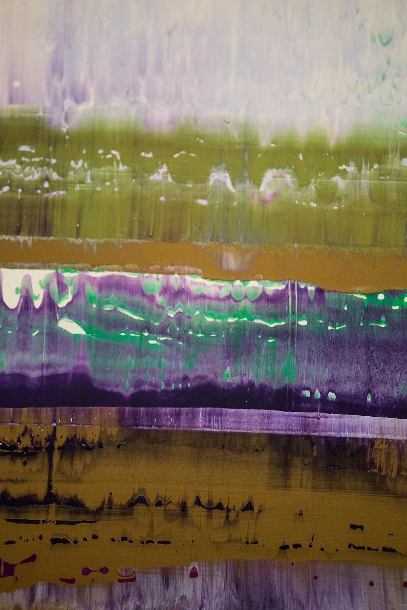 Prisma 8 - Manganprise, Detail 2 | Malerei von Lali Torma | Acryl auf Leinwand, abstrakt