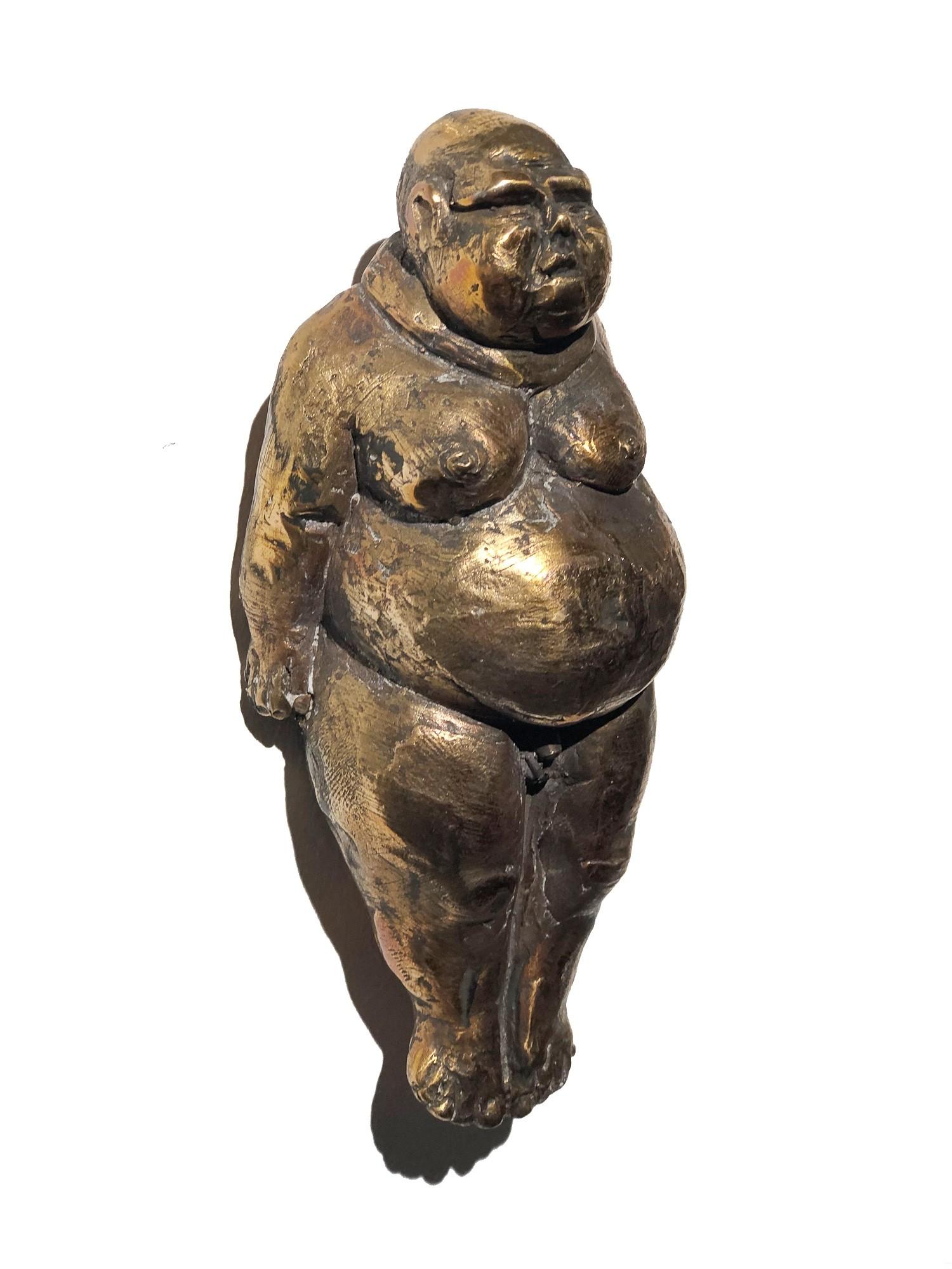 Die Made - seitlich, Bronze Plastik, Skulptur von Tim David Trillsam