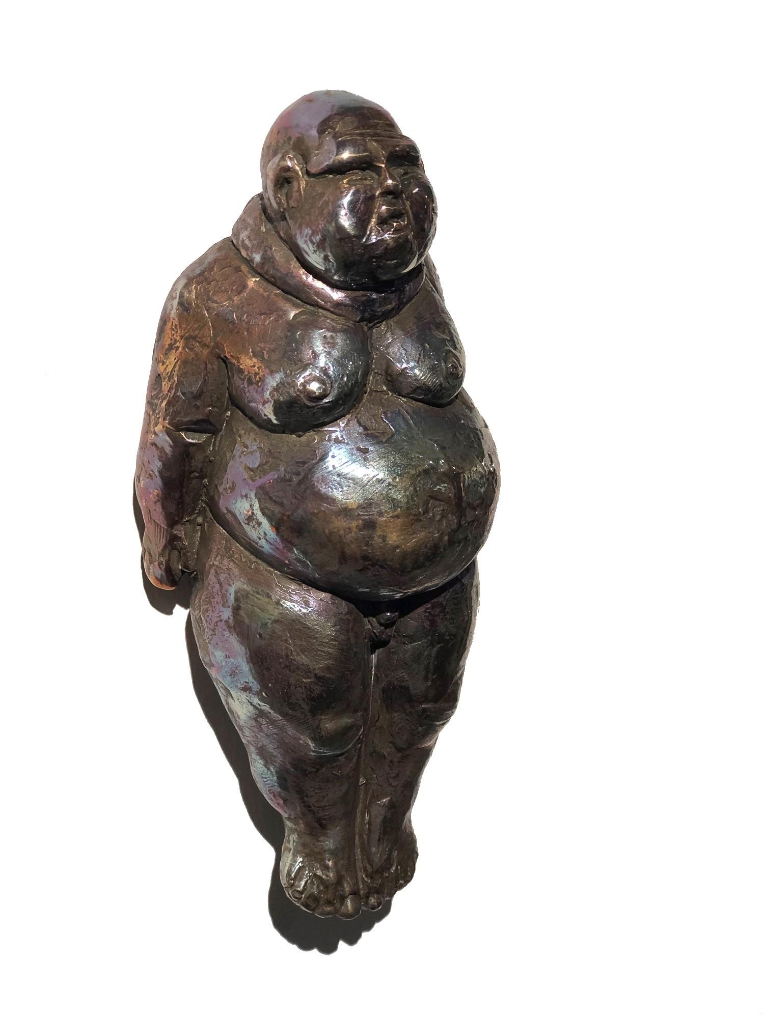 Die Made - seitlich, Bronze Plastik, Skulptur von Tim David Trillsam, Edition