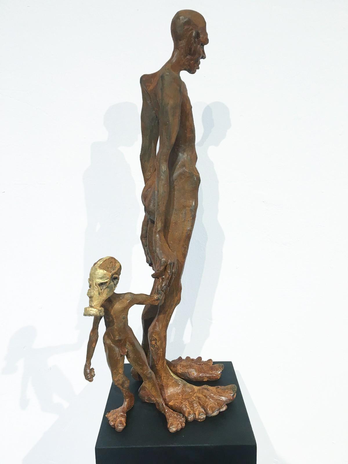 Nachlass - Eisen Skulptur seitlich von Tim David Trillsam, Edition
