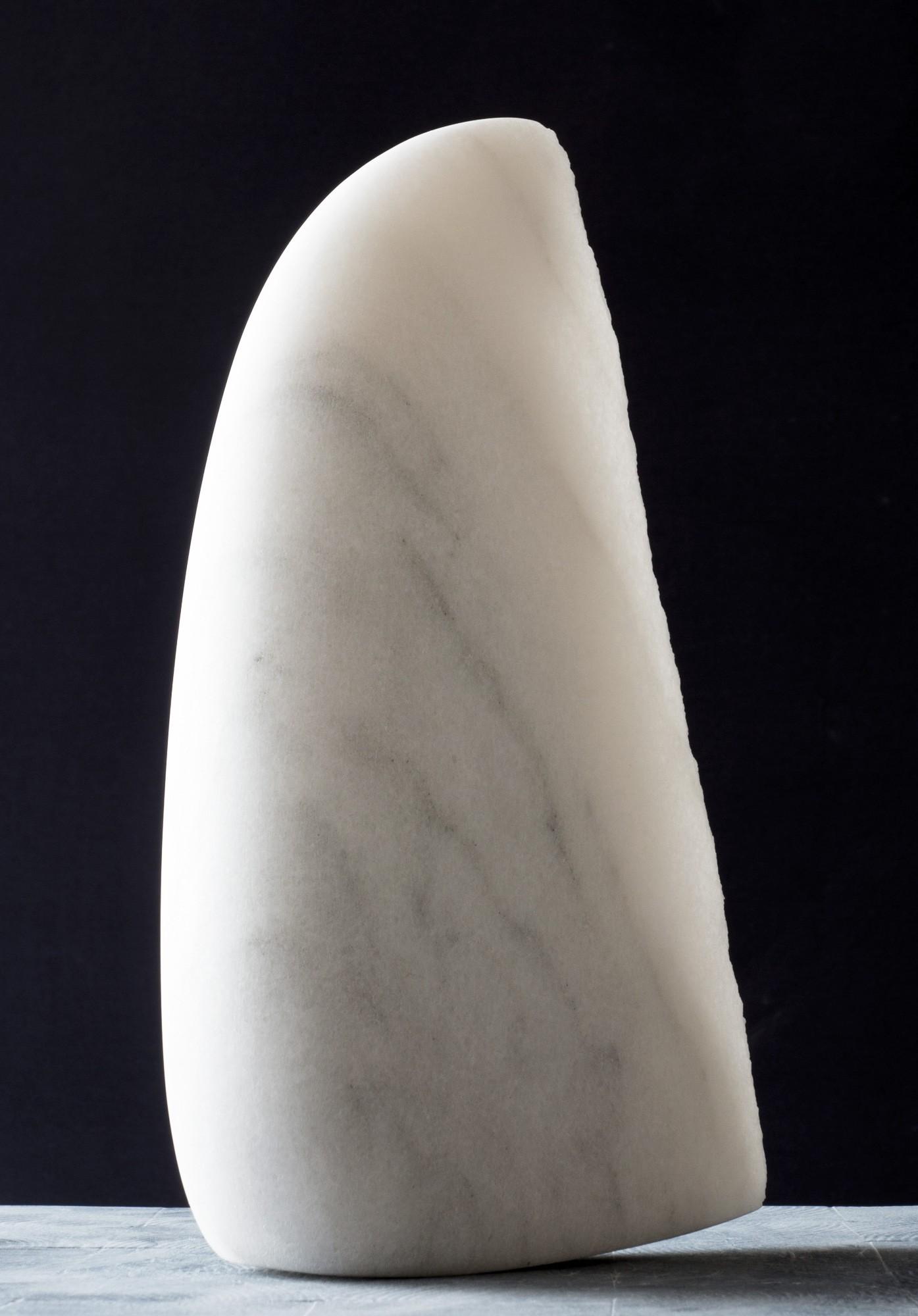 Kleiner Flügel, Stein Skulptur aus Marmor von Bildhauer Klaus W. Rieck (4)