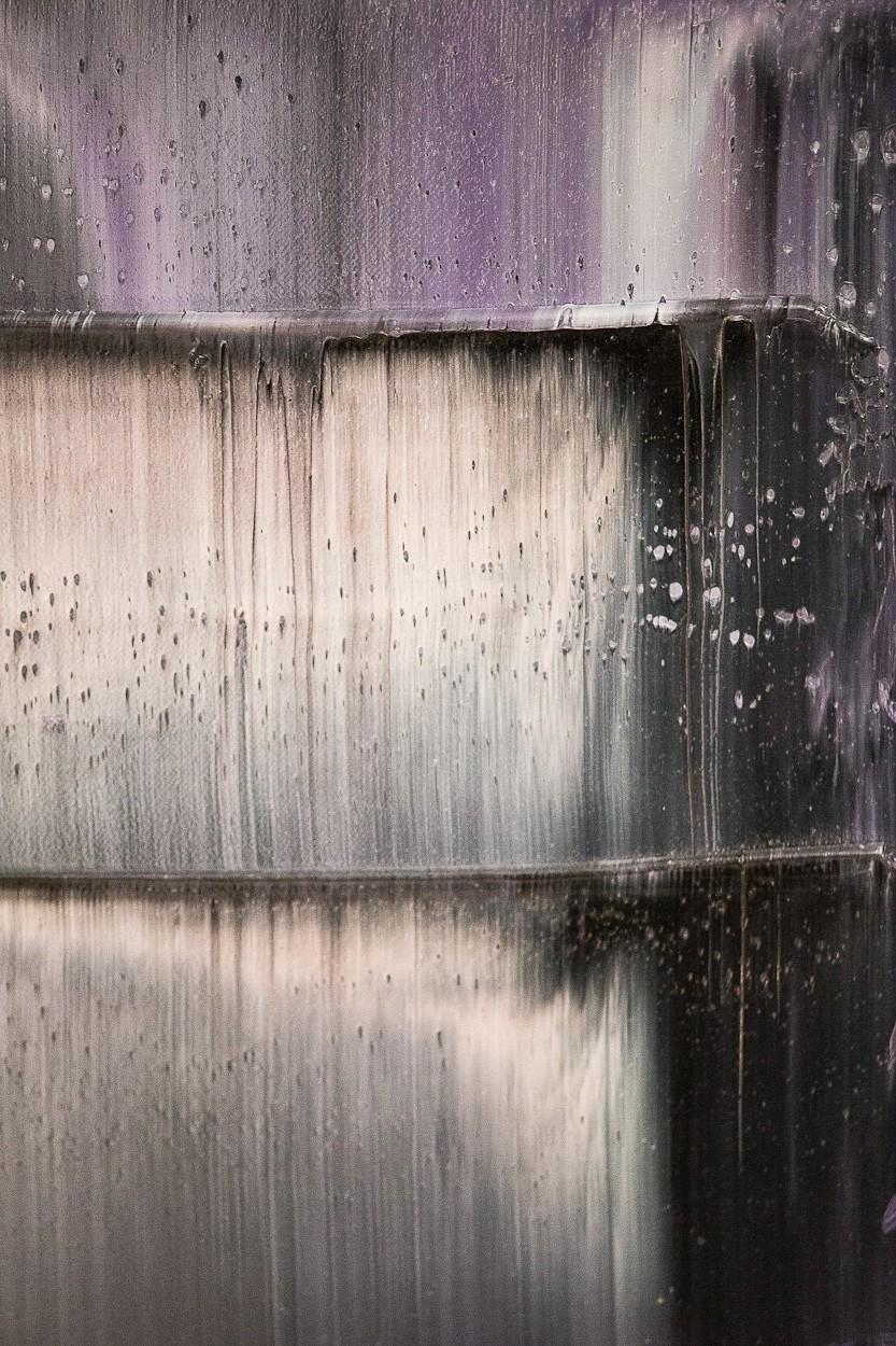 Prisma 12 - Gesteinströmung, Detail 2 | Malerei von Lali Torma | Öl auf Leinwand, abstrakt