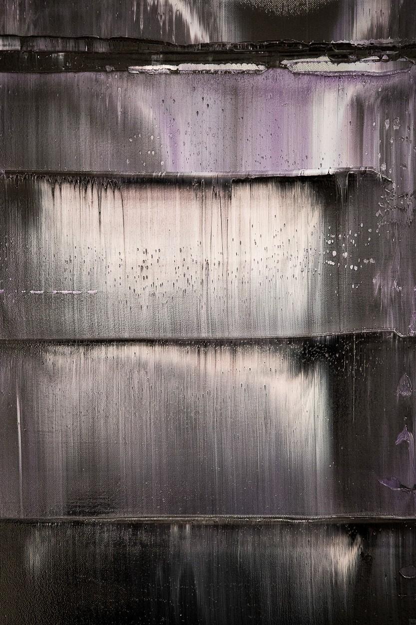 Prisma 12 - Gesteinströmung, Detail | Malerei von Lali Torma | Öl auf Leinwand, abstrakt