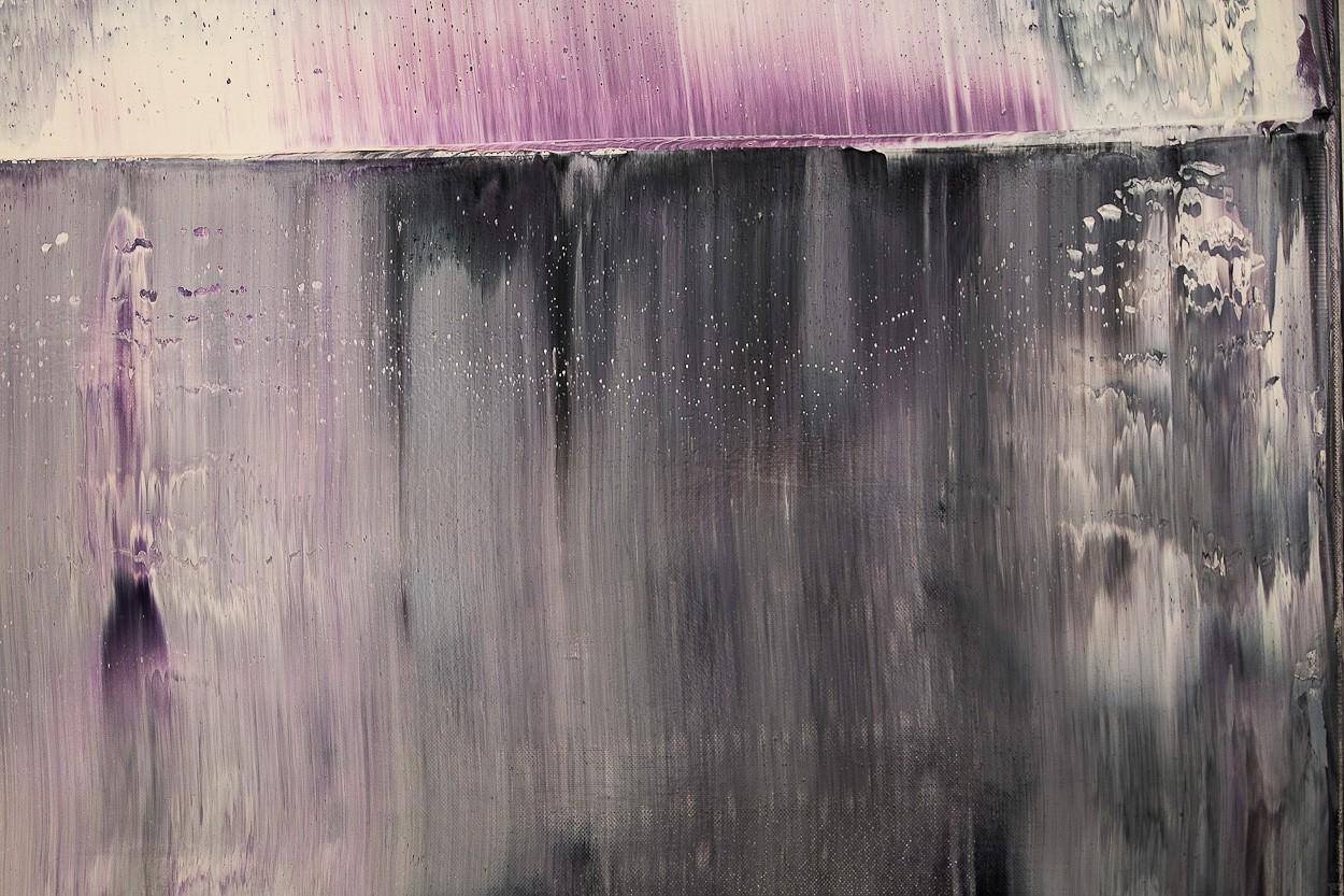 Prisma 12 - Gesteinströmung, Detail 4 | Malerei von Lali Torma | Öl auf Leinwand, abstrakt