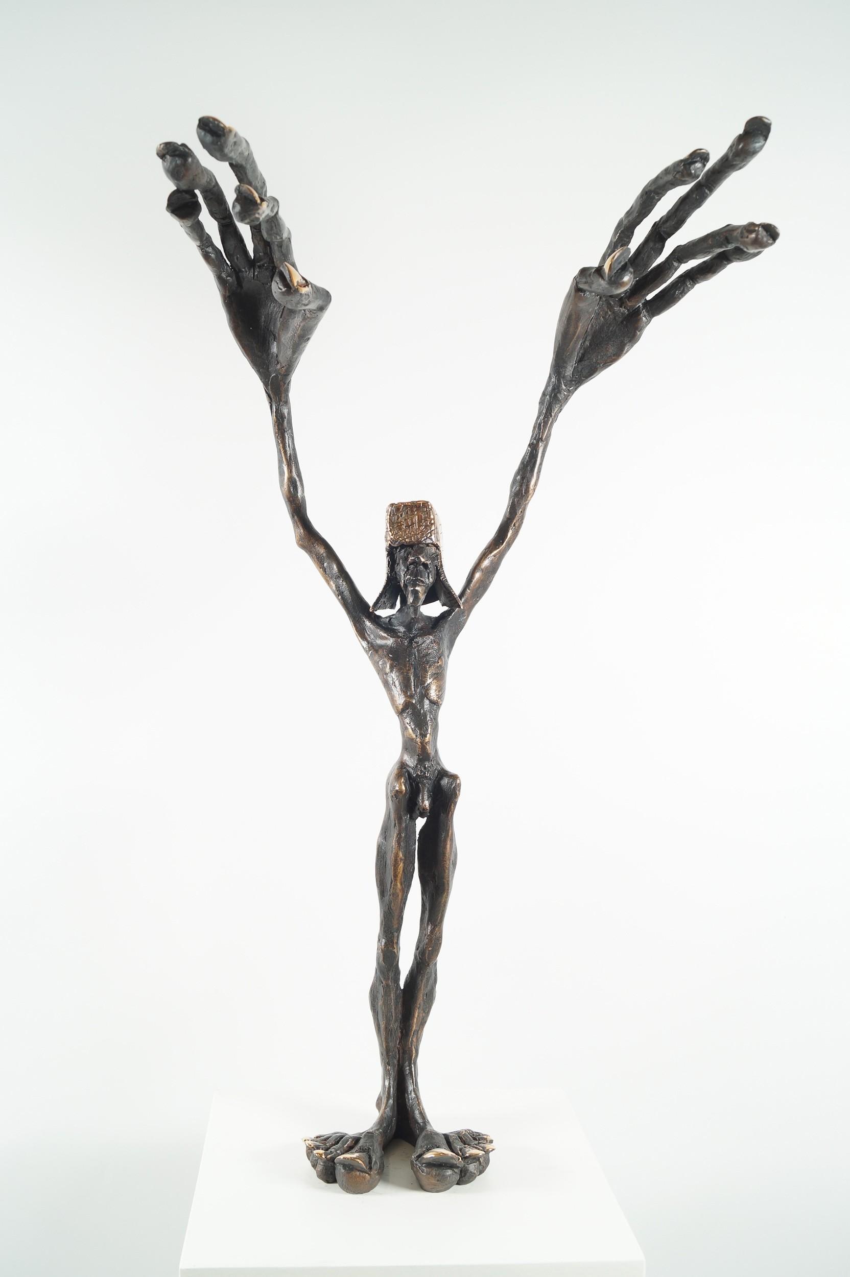 Fadenzieher - Bronze Plastik (frontal), Skulptur von Tim David Trillsam, Edition