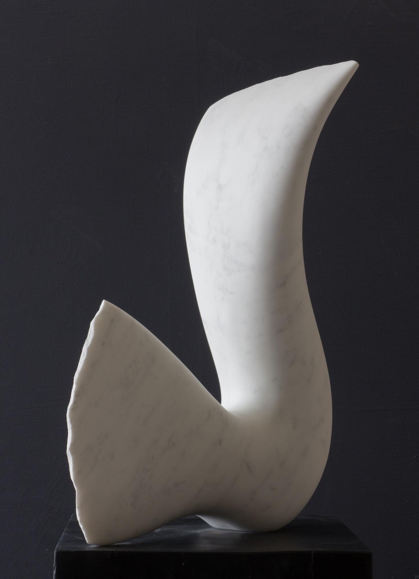 Leda, Stein Skulptur aus Marmor von Bildhauer Klaus W. Rieck (2)