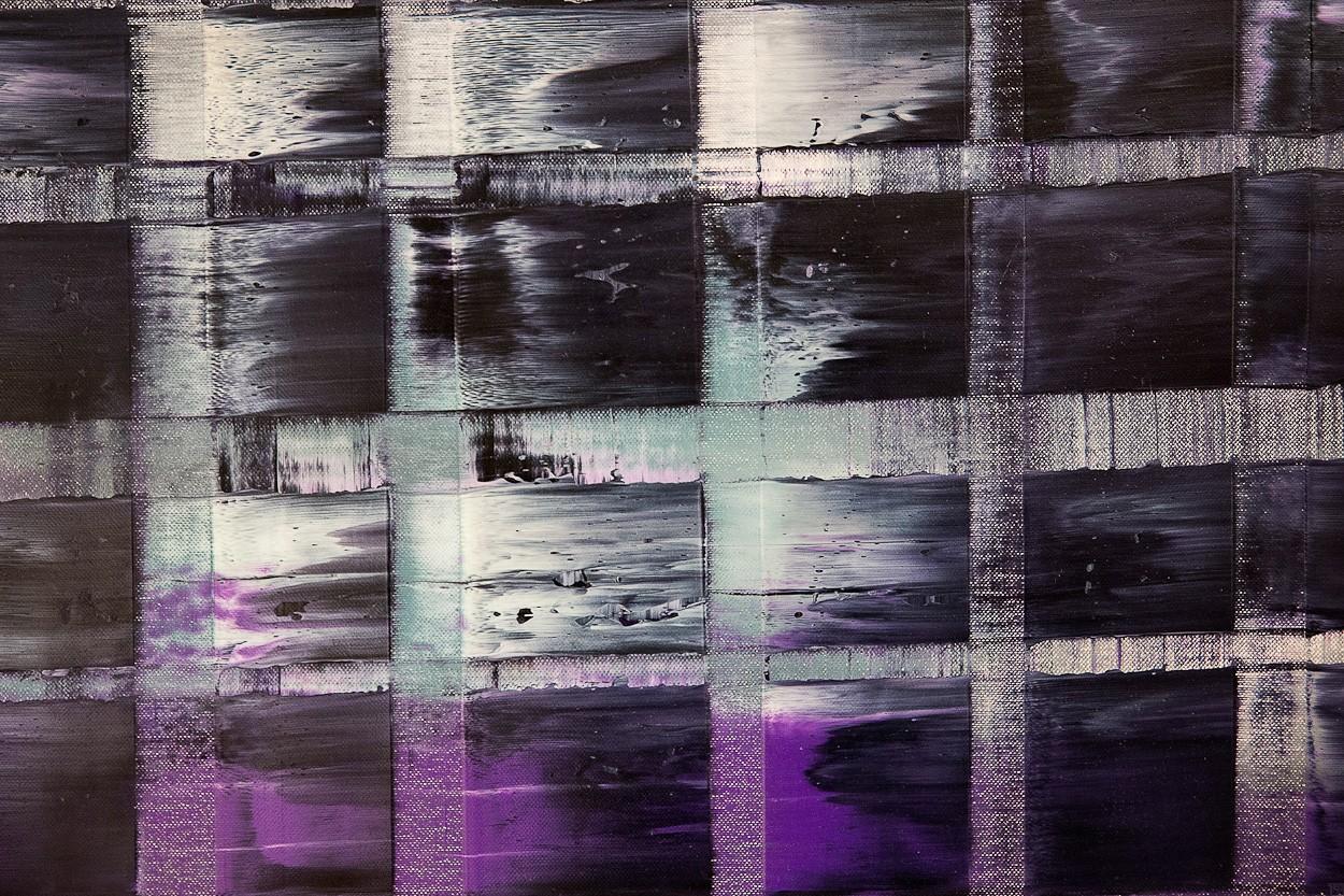 Violette ARMA, Detail 1 | Malerei von Lali Torma | Öl auf Leinwand, abstrakt