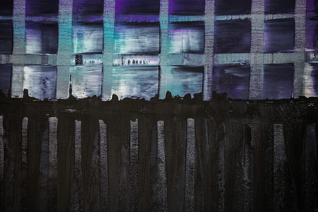 Violette ARMA, Detail 2 | Malerei von Lali Torma | Öl auf Leinwand, abstrakt