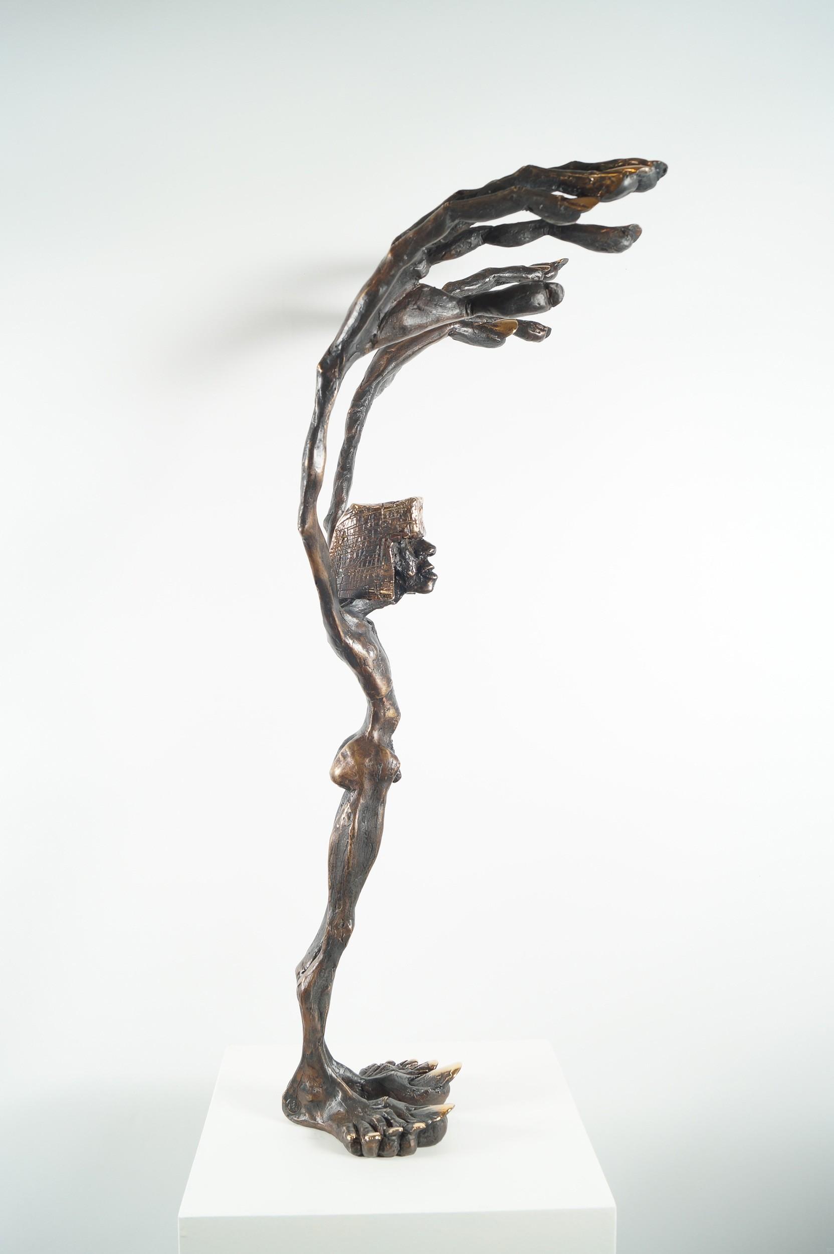 Fadenzieher - Bronze Plastik (von links), Skulptur von Tim David Trillsam, Edition