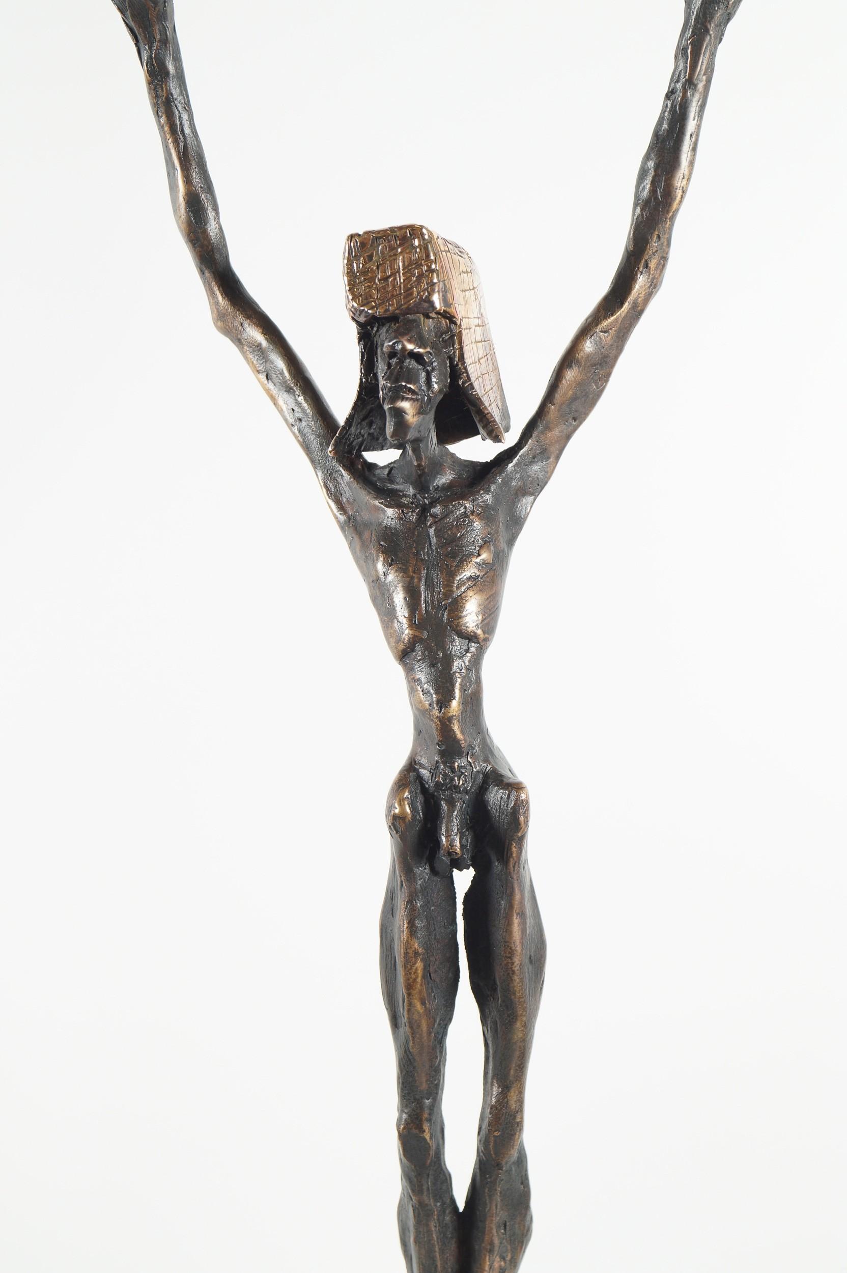 Fadenzieher - Bronze Plastik (Detail), Skulptur von Tim David Trillsam, Edition