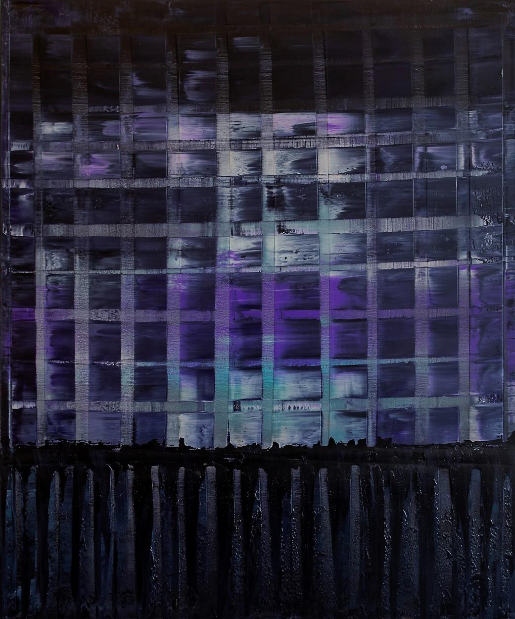 Violette ARMA | Malerei von Lali Torma | Öl auf Leinwand, abstrakt